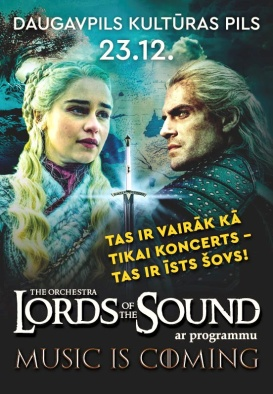 LORDS OF THE SOUND ar programmu 'Music is coming' (pārcelts no 17.09.2020 un 29.12.2020)