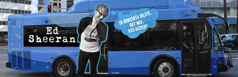 Sākas biļešu pārdošana Latvijas fanu busiem uz Eda Šīrana koncertu